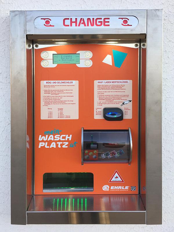 Geldwechselautomat auf Mein Waschplatz